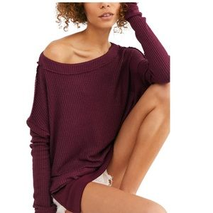 NEW Free People North Shore Thermal Tunic Top M
